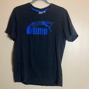 Puma Black & Blue T-Shirt Men's Medium